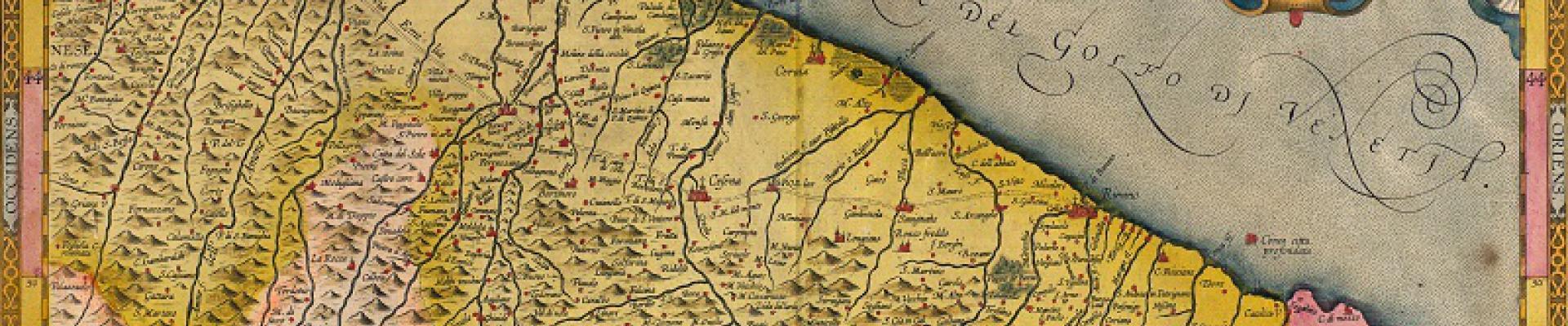 Antica mappa della Romagna