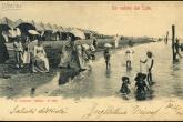 Rimini, bagnanti in spiaggia, 1901